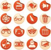 Cinema and theatre stickers
