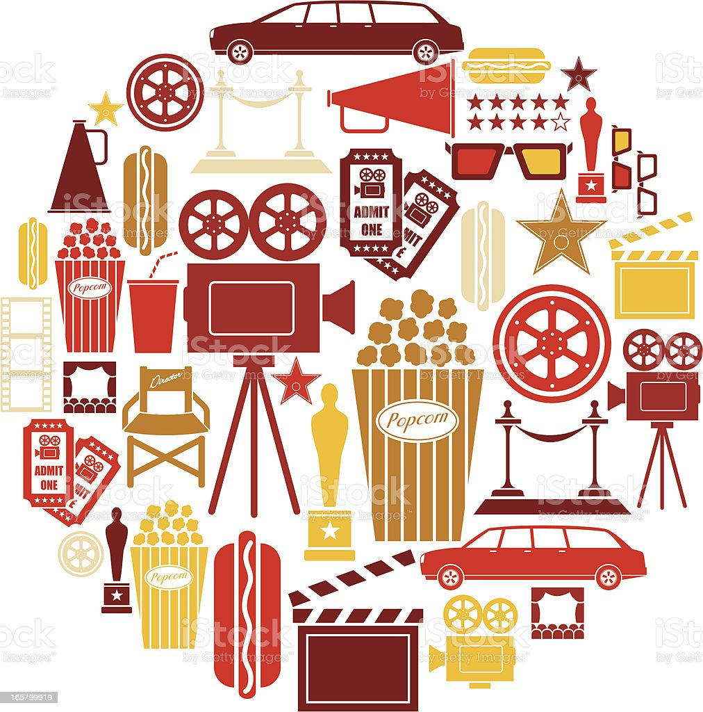 Cinema Icon Set royalty-free cinema icon set stock vector art & more images of 3-d glasses