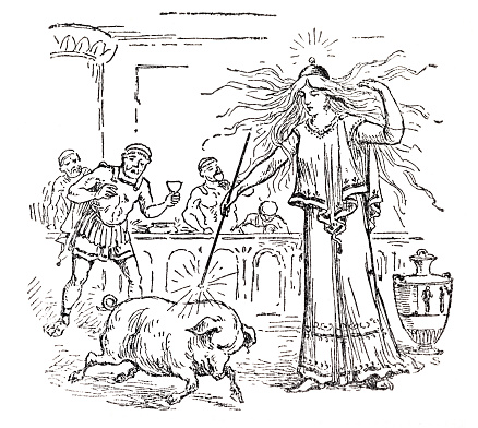 Circe the daughter of the sun changed men into swine