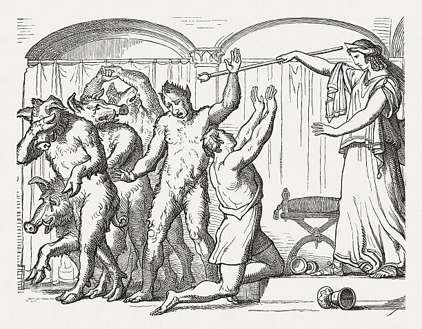 the story of circe the evil enchantress from the greek mythology This is the story of circe, greek goddess - or enchantress- of divine beauty, the one whose hobby was to turn men into swine.