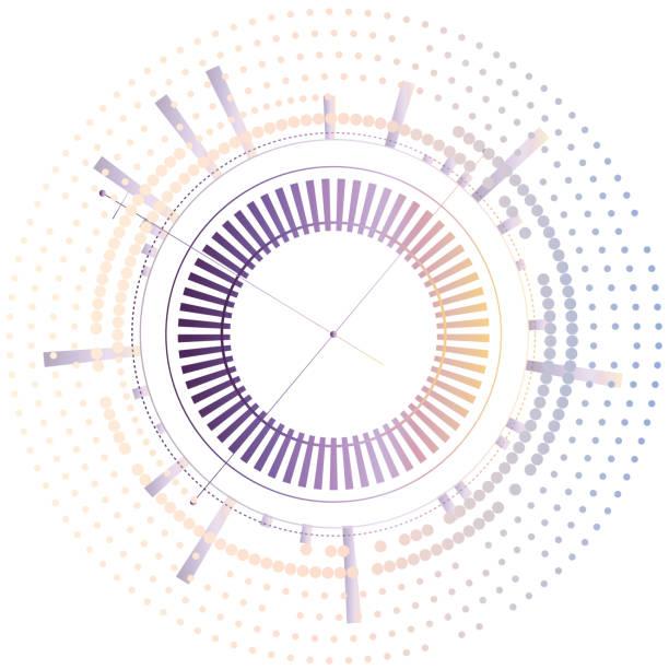 圓形抽象連接連接點和線向量藝術插圖
