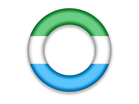 Circle Flag of Sierra Leone