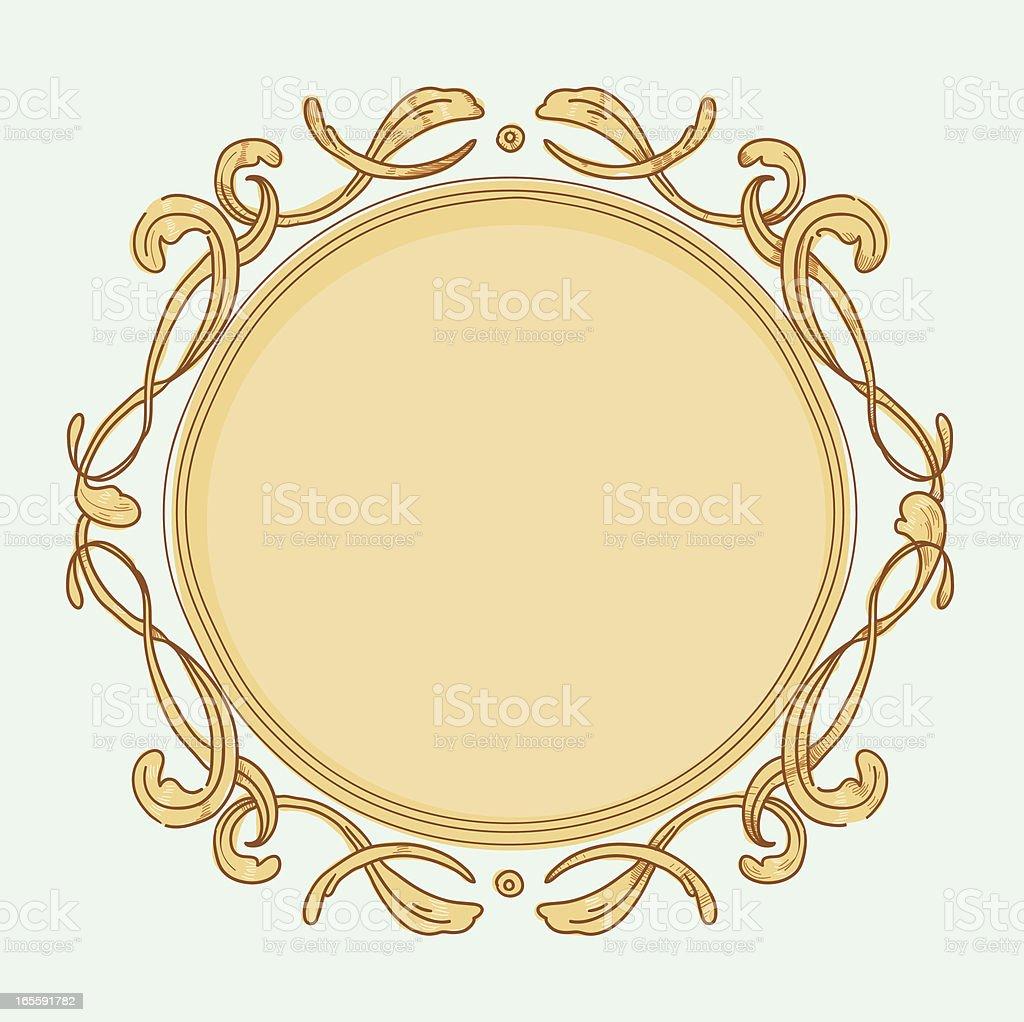 Circle Frame vector art illustration