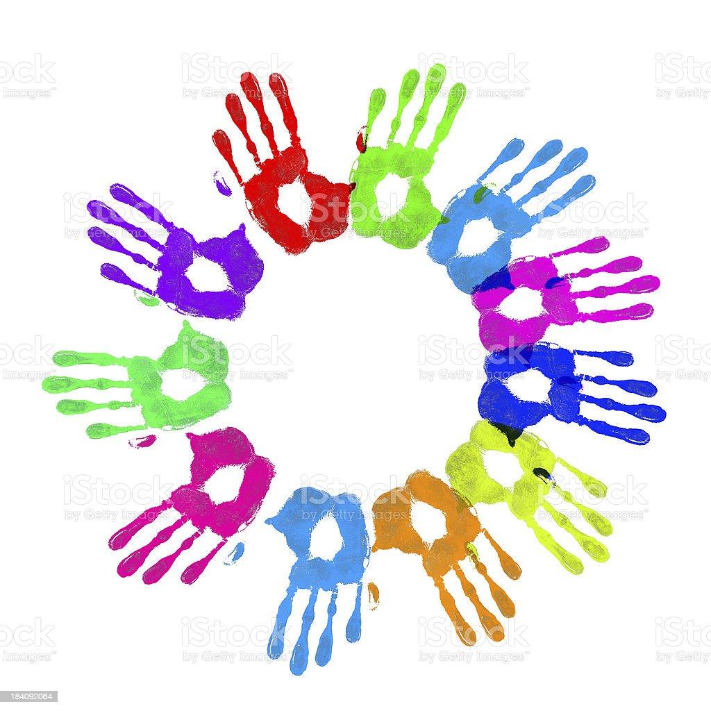 Circle of hands royalty-free stock vector art