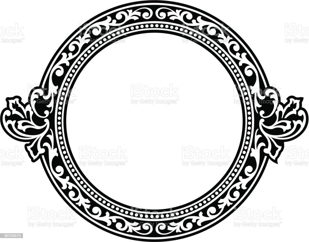 circle panel vector art illustration