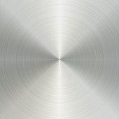 istock Circular brushed aluminum metal texture 923839412