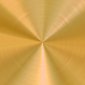 Circular Brushed Gold Vector Background