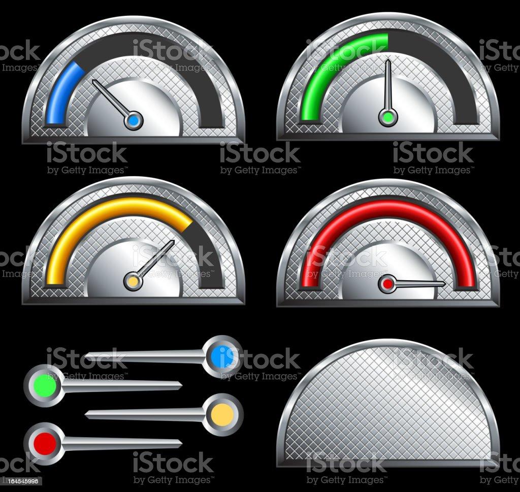 Circular Fundraiser Goal meter speedometer royalty-free stock vector art