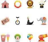 Elegant circus related icon can beautify your designs & graphic