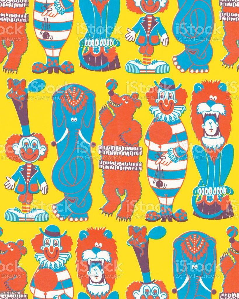 Circus pattern royalty-free stock vector art