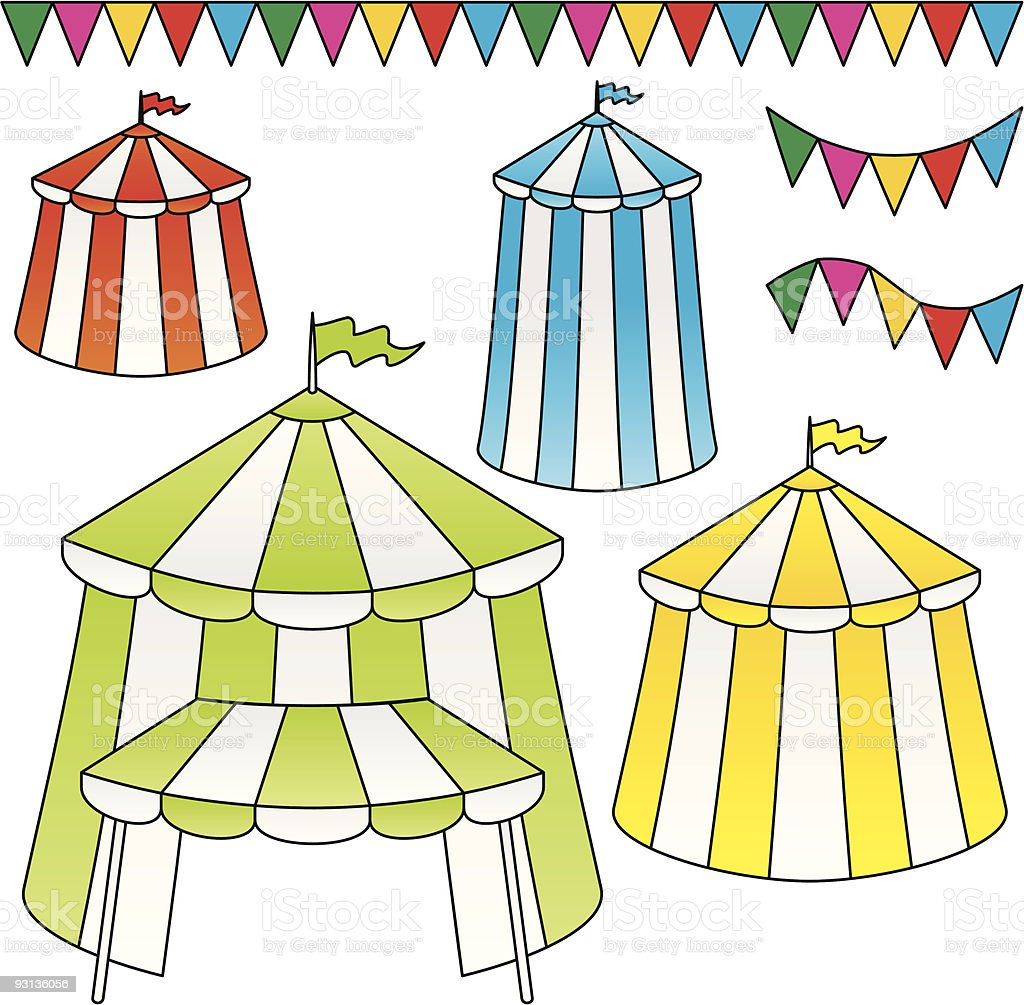 Circus tents royalty-free circus tents stock vector art & more images of celebration