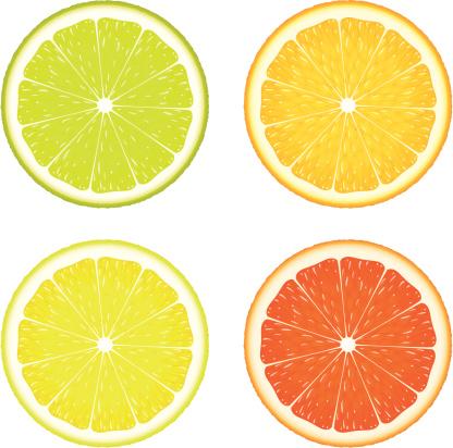 Цитрусовый Четыре — стоковая векторная графика и другие изображения на тему Апельсин