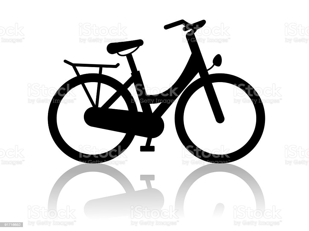 City bike vector art illustration