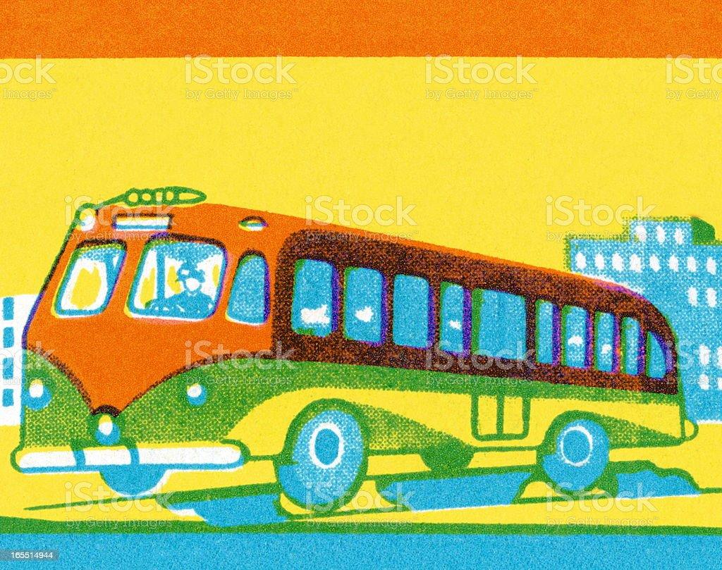 City Bus royalty-free stock vector art
