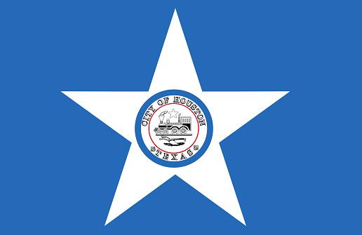 HOUSTON city flag (TEXAS-USA)