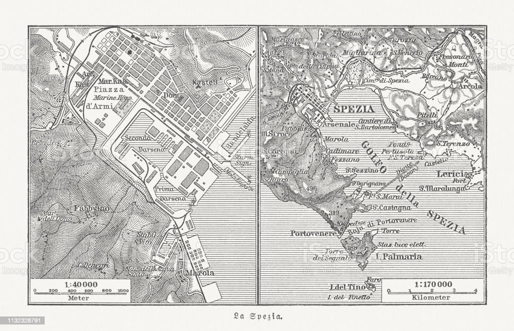 City Map Of La Spezia Italy And Surroundings Published 1897