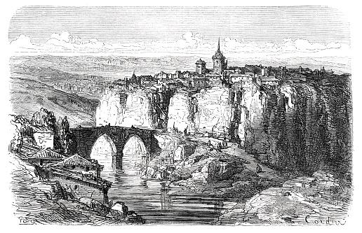 City of Cuenca in Castile–La Mancha central Spain 1871