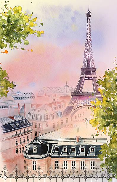 stockillustraties, clipart, cartoons en iconen met city of paris - paris