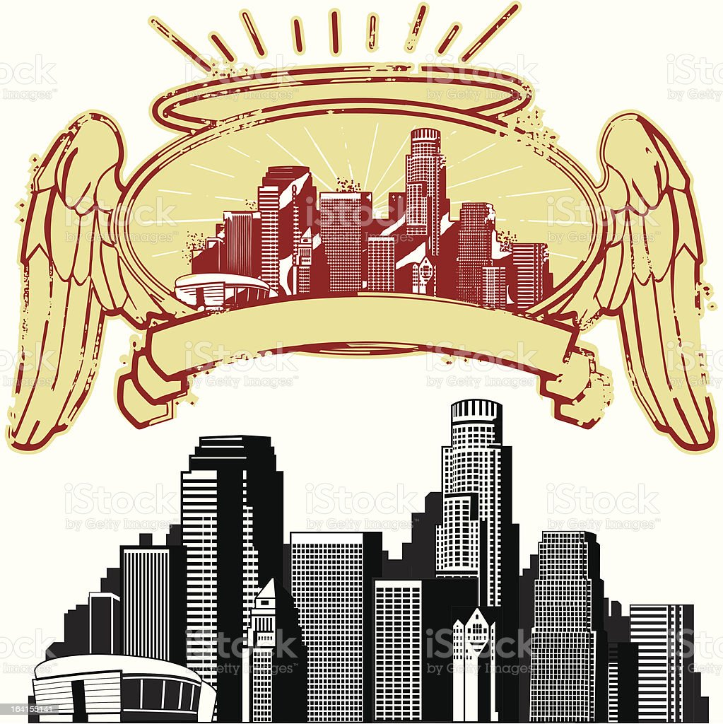 City of the angels royalty-free city of the angels stock vector art & more images of abstract