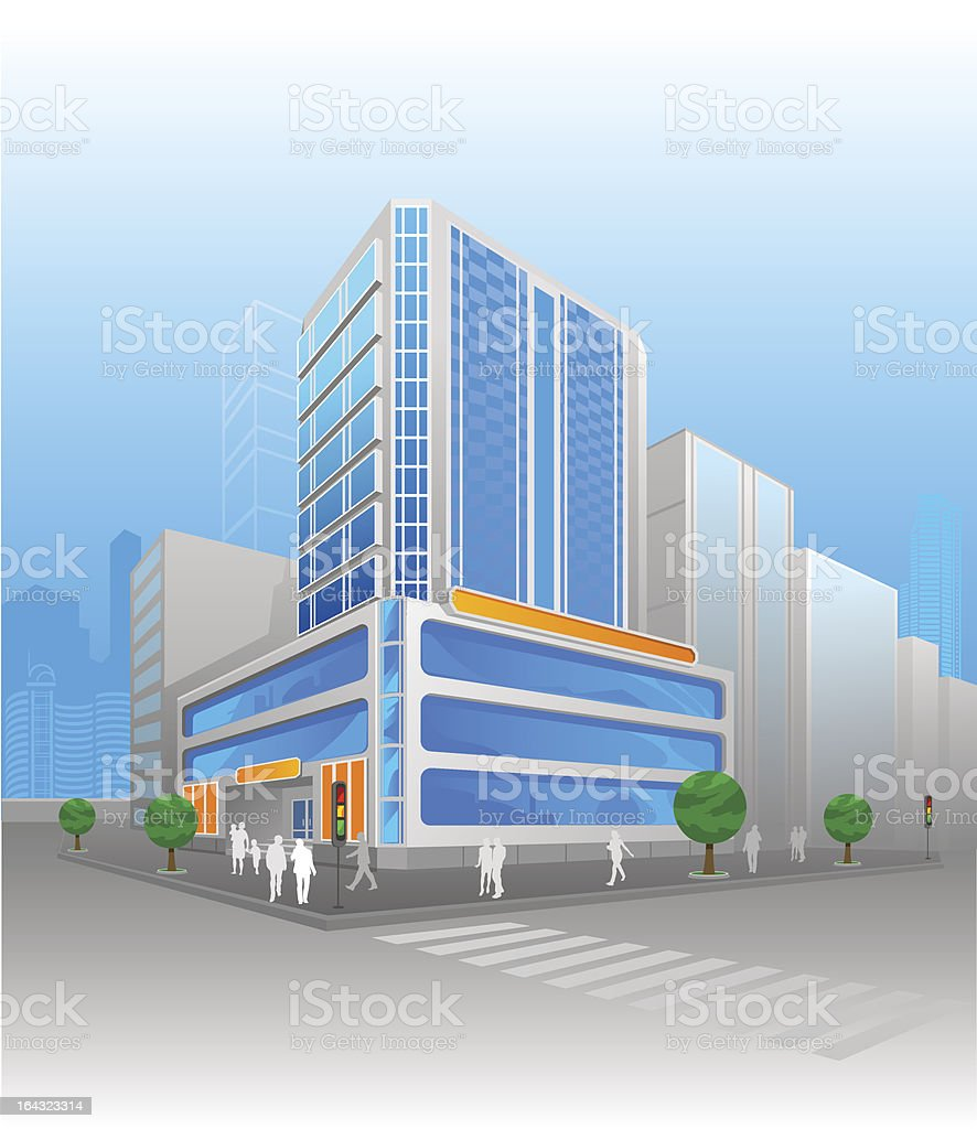 City of the Future royalty-free stock vector art