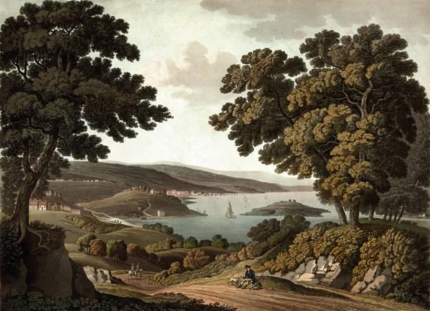 miasto waszyngton - archiwalny stock illustrations