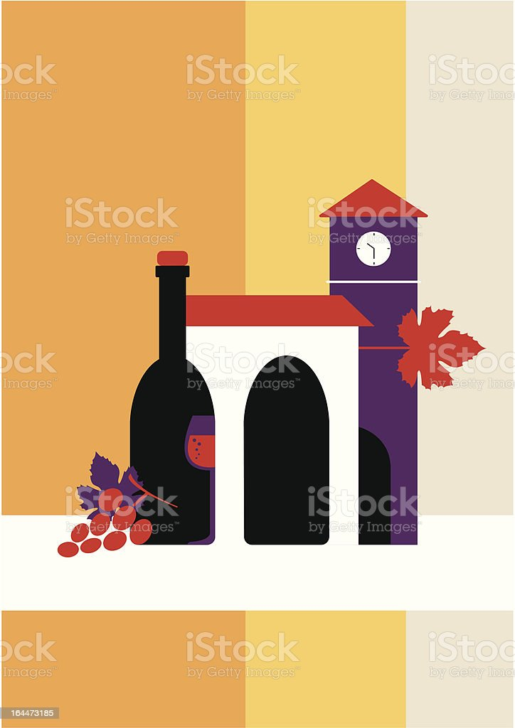 City of wine royalty-free stock vector art