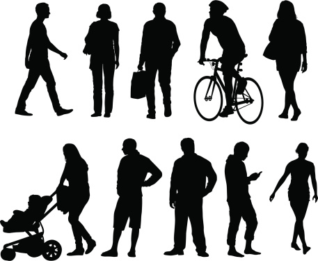 City people silhouettes