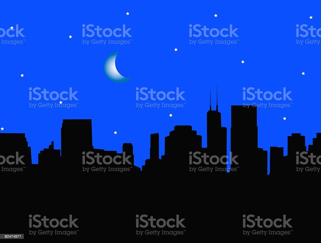 City Skyline - vector royalty-free city skyline vector stock vector art & more images of backgrounds