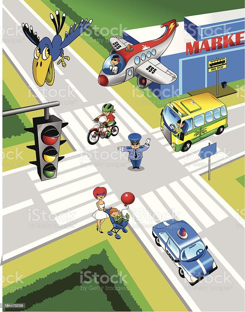 city street royalty-free stock vector art
