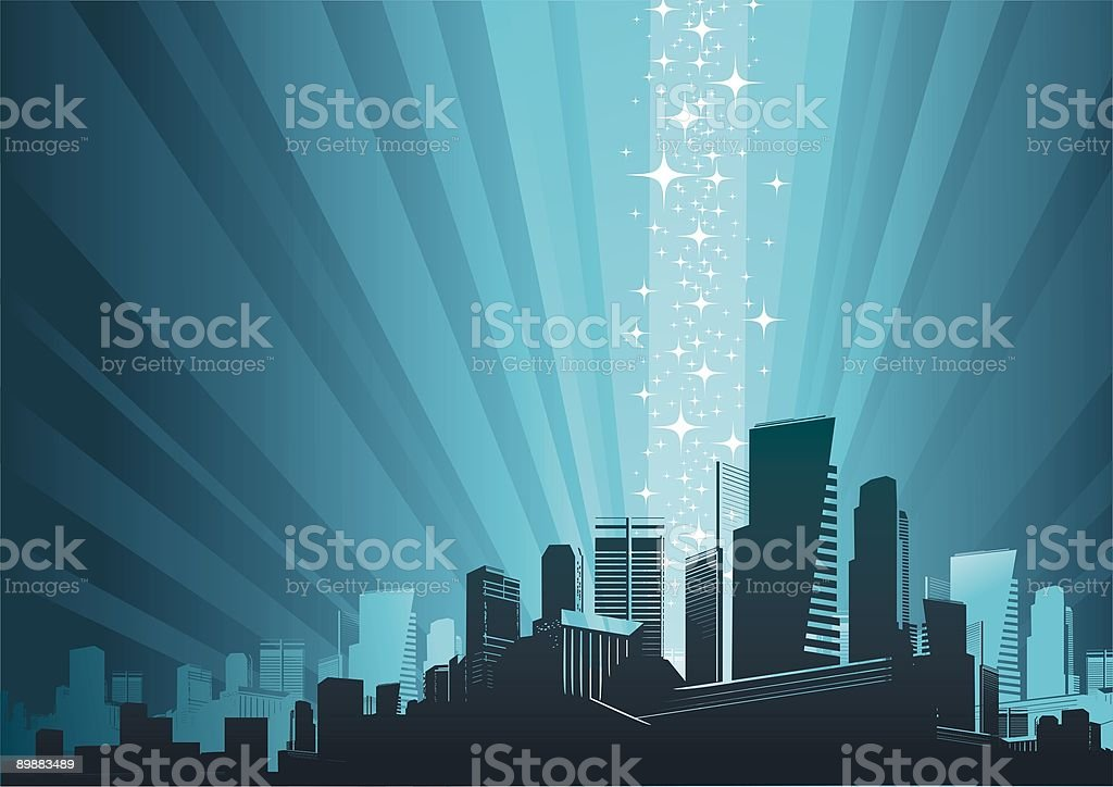 Cityscape & magic phenomenon royalty-free cityscape magic phenomenon stock vector art & more images of abstract