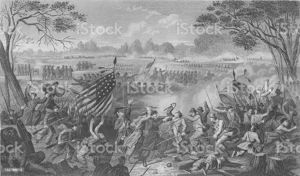 Civil War Engraving Newbern - 1863 19th Century vector art illustration