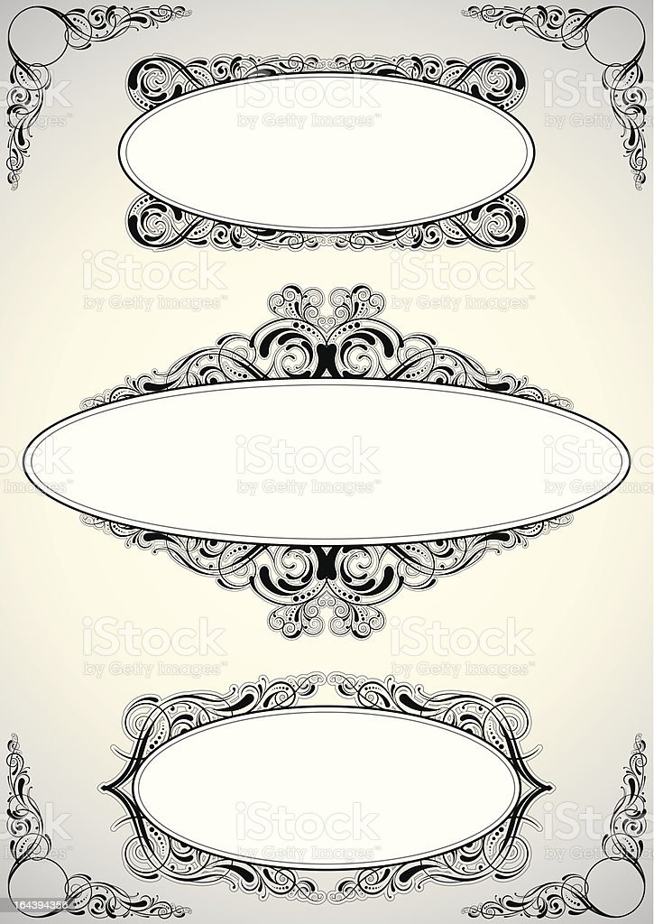 Clasical floral frame royalty-free clasical floral frame stock vector art & more images of angle