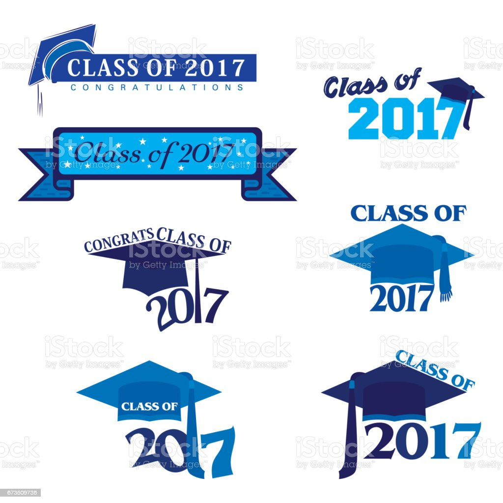 Class of 2017 vector art illustration