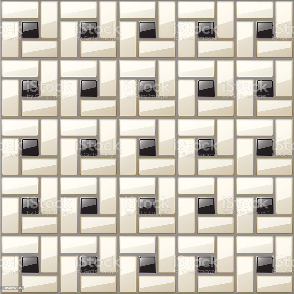 Classic Black White Bathroom Tile Pattern Stock Vector Art & More ...