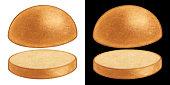 istock Classic Bun for Burger hand drawn illustration 1299516365
