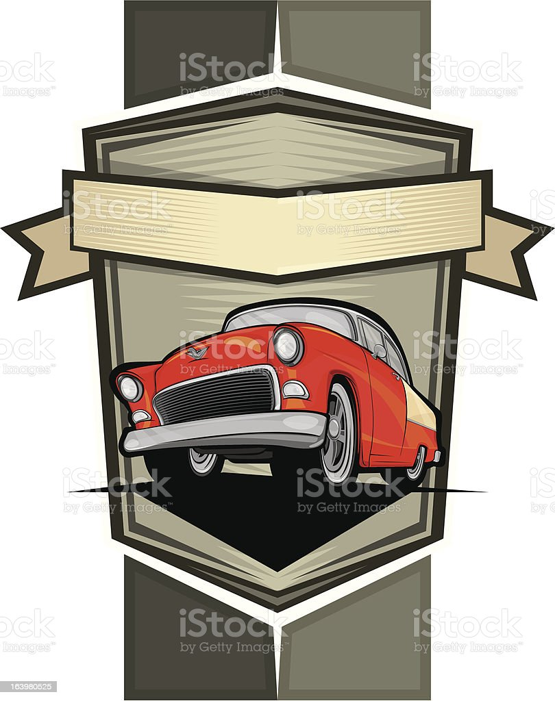 Classic car poster and emblem royalty-free classic car poster and emblem stock vector art & more images of backgrounds