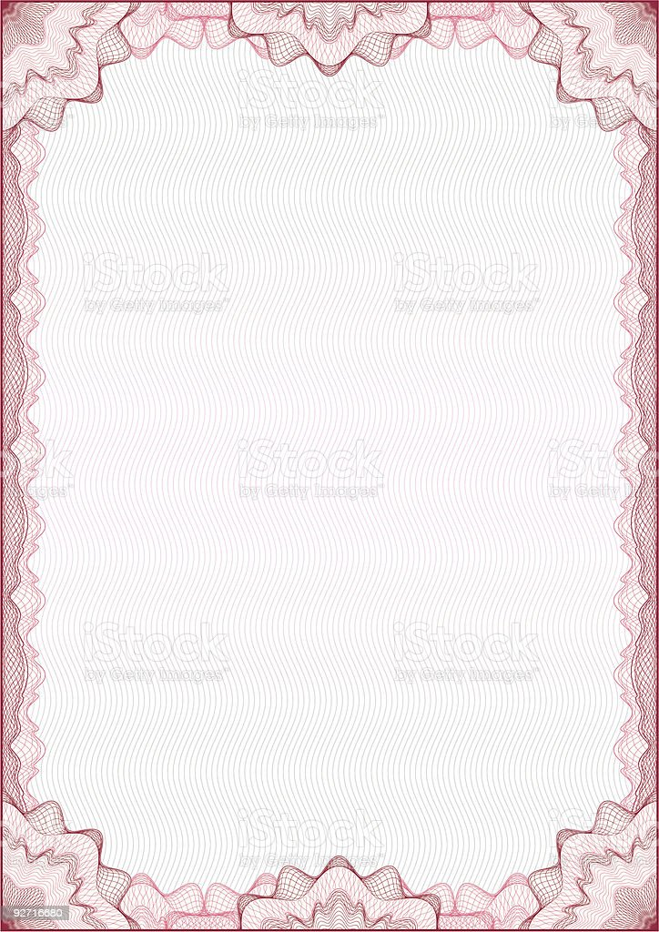 Classic guilloche border for diploma or certificate / vector royalty-free stock vector art