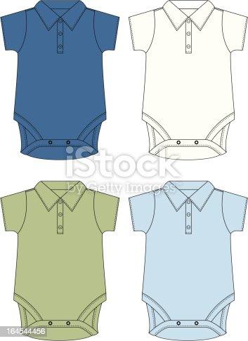 Classic Little Boys Polo Bodies/Union suits