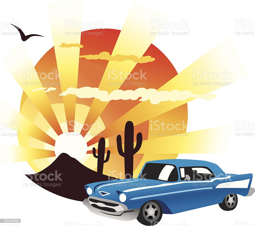 Classic Sunset royalty-free stock vector art