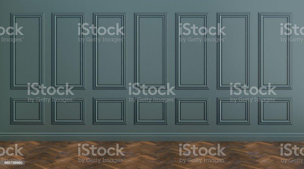 Classic wallbeautiful vintage interior- 3D rendering classic wallbeautiful vintage interior 3d rendering - immagini vettoriali stock e altre immagini di affari royalty-free