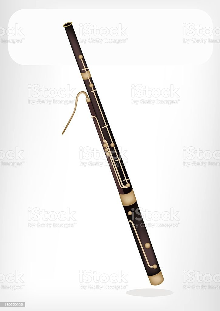 Classical Bassoon with A White Banner royalty-free stock vector art