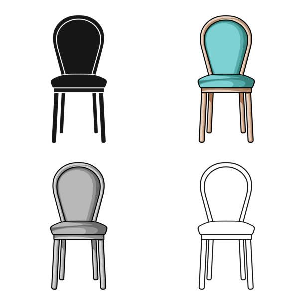 Cartoon Kitchen Furniture: Royalty Free Old Kitchen Chairs Cartoons Clip Art, Vector