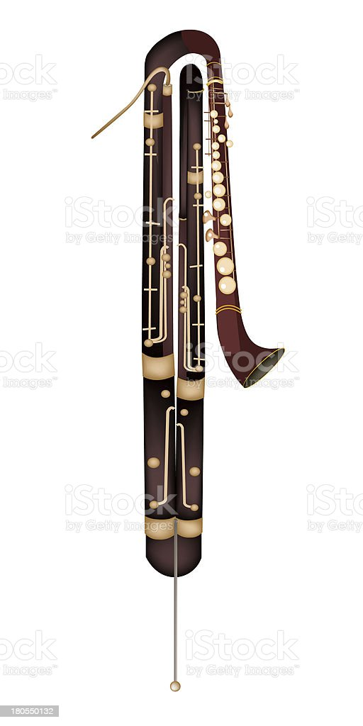 Classical Contrabassoon Isolated on White Background royalty-free classical contrabassoon isolated on white background stock vector art & more images of artist