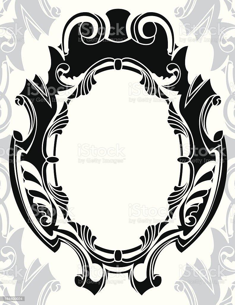 Classical decorative framework stencil royalty-free stock vector art