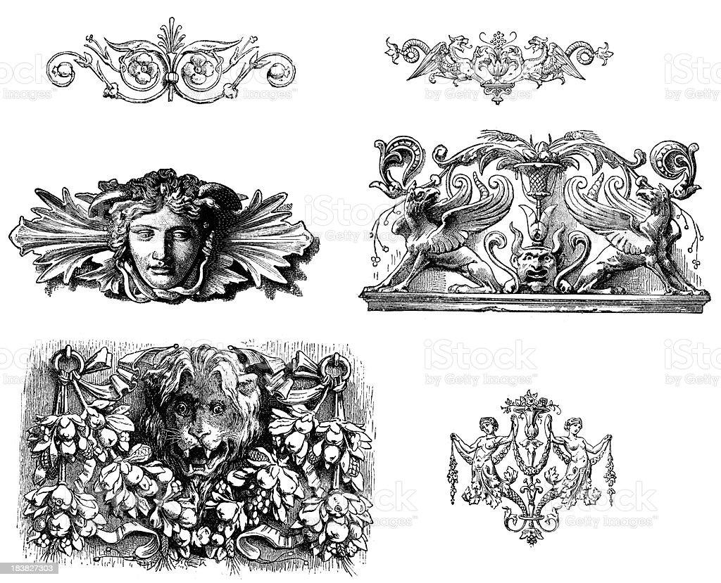 Classical Design Elements vector art illustration