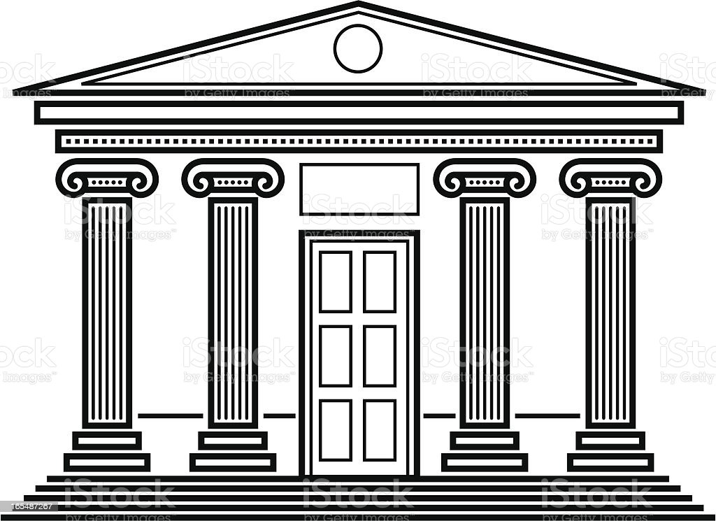 Classical temple. vector art illustration