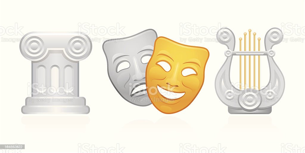 Classical Theater royalty-free stock vector art