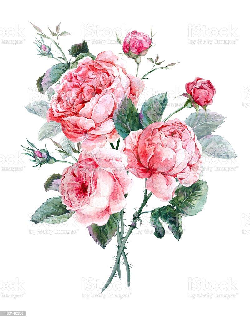 Cl 225 Ssico Vintage Flores Em Aquarela Cart 227 O De Sauda 231 227 O