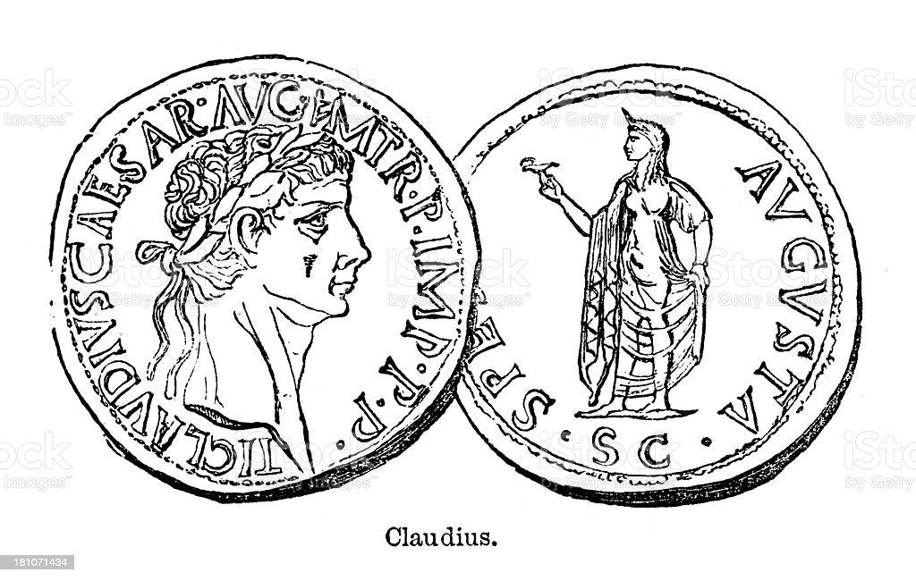 Claudius royalty-free stock vector art
