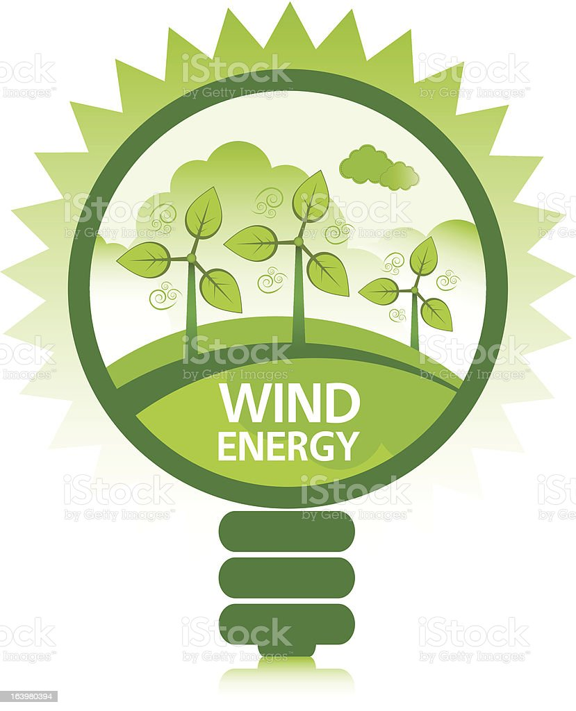 Clean Wind Energy vector art illustration